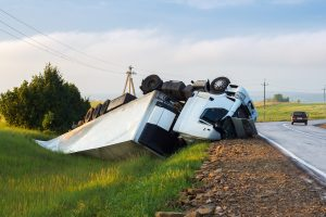 Truck rollover accident