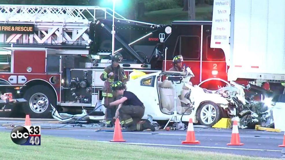 Car Crash with 18-Wheeler Truck